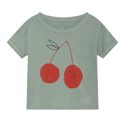Julhold Neugeborenes Baby Kinder Jungen Mädchen Mode Lässig Cartoon Obst Kurzarm Baumwolle T-Shirt T Tops Kleidung 1-10 Jahre