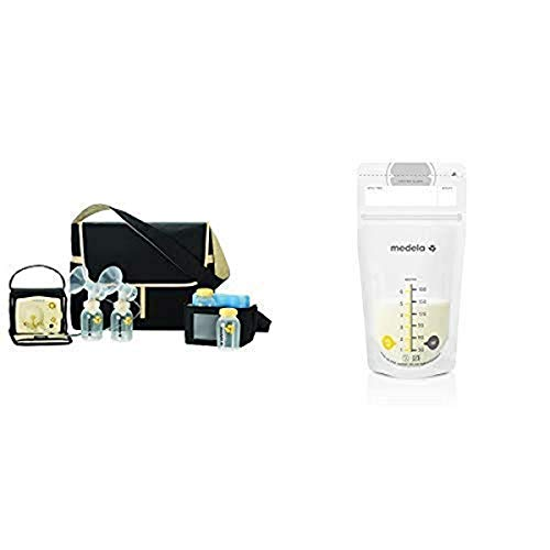 Medela Pump in Style Advanced Breast Pump with Metro Bag and 100 Count Breast Milk Storage Bags, Electric Breastpump for Double Pumping, Ready to Use Breastmilk Bags for Breastfeeding