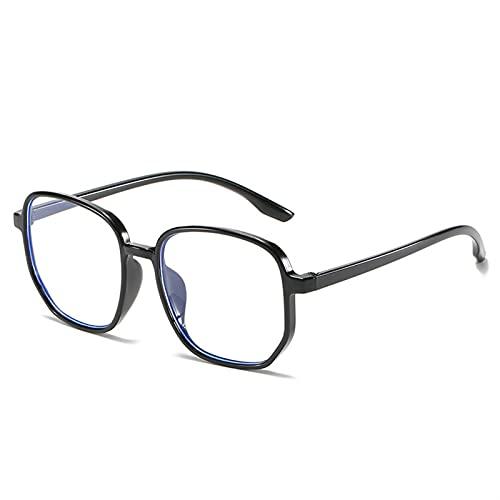 Gafas de lectura antiluz azul para mujer, estilo vintage, para hombre, lentes de cristal óptico, marco liso, para juegos (color S4, tamaño: +200)