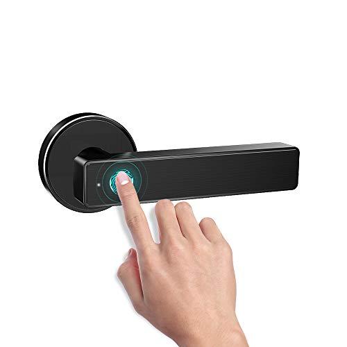Smart Biometric Fingerprint Handle Door Lock,Safely Convenient with Fingerprint Bluetooth APP Key Unlock for Home Office Apartment Hotel Garage School Wooden Door by Nyboer