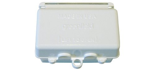 Greenfield WIUHWS Weatherproof Electrical, Horizontal While In Use Outlet Cover, White by Greenfield