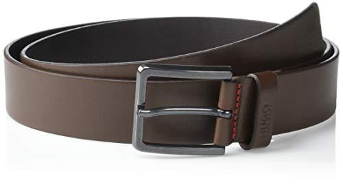 Hugo Boss Herren Gionio Smooth Leather Belt Gürtel, Dunkelbraun, 30
