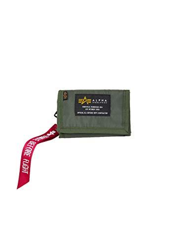 Alpha Industries Unisex Wallet Crew, Color:Sage-Green