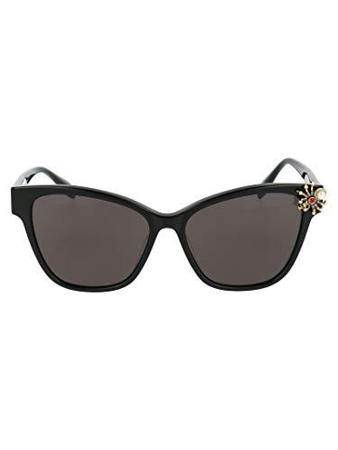 Alexander McQueen Luxury Fashion AM0269S001 - Occhiali da sole, per primavera/estate 20, colore: Nero Nero 57 mm