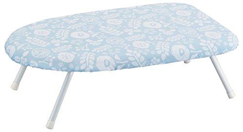 山崎実業 花柄 北欧風 暮らしの定番 スチームアイロン台 ブルー 約W60XD36XH20cm 4011