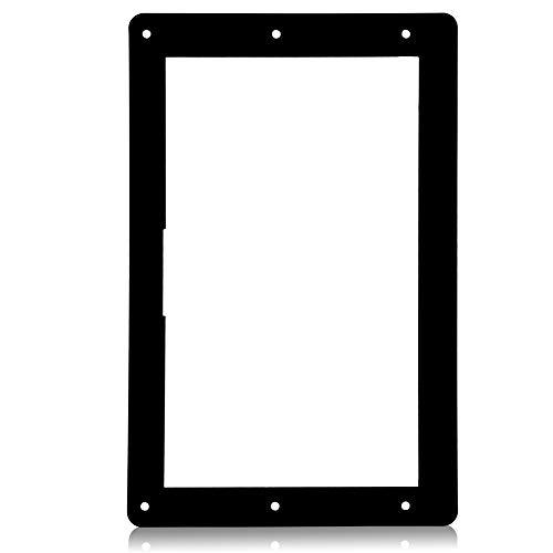 7 inch acryl beschermhoes, speciale schaal, acryl hoes voor Raspberry Pi-scherm, compatibel met twee stabiele poten/eenvoudige installatie/acrylbehuizing en houder zwart