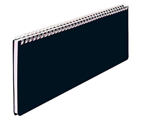 Schreibtischkalender Folie 2021 fs 1 Woche=1 Doppelseite, Querformat (schwarz, 307 x 105 mm)