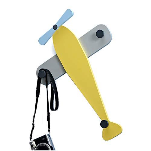 Patères pour manteaux Crochet de personnalité Crochet de manteau d'avion Décoration de chambre d'enfants pendant crochet créatif cintre (Color : Yellow, Size : 50x40x5cm)