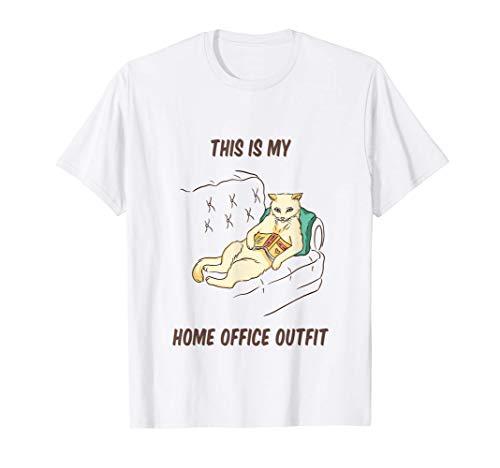 Sofá para gatos Libro la oficina en casa Damas en cuarentena Camiseta
