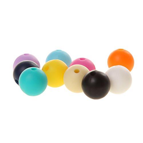 Generic Bébé Perles Silicone de Dentition BabyTeether Polygonal Bricolage Collier Multicolore - Divers - Rond