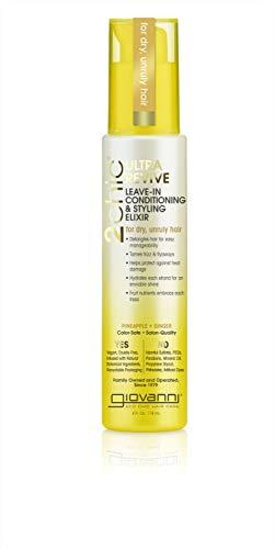 Giovanni超恢复休息室调节和造型精英,菠萝&姜,亲维生素B5,金银花,欧米茄脂肪酸,硫酸盐,彩色安全,4盎司。(包1)