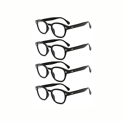 ShRan Gafas Retro Moda Anti-luz Azul Gafas de Lectura Gafas de Lectura con Montura de PC Femenina