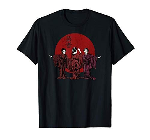 Hokusai Geisha Kimono Camiseta
