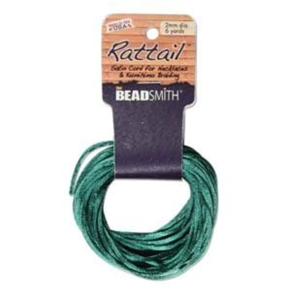 1mm Satin Rattail Braiding Cord Dark Green 6 Yards For Kumihimo and Craft by Beadsmith