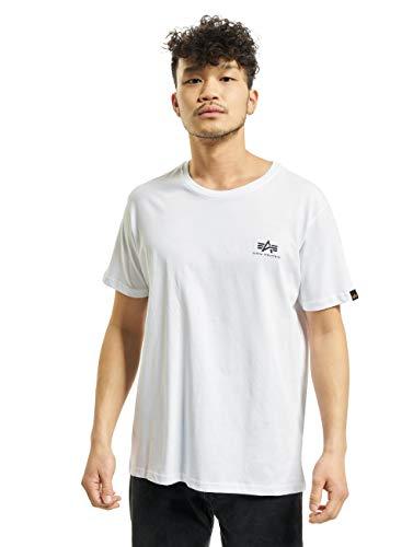 ALPHA INDUSTRIES Herren Basic T Small Logo T-Shirt, White, M