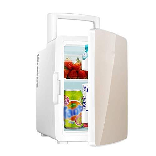 Zhong$chuang Auto Kühlschrank, 12car Dual-Use-Kühlschrank Doppeltür Zugstange Riemenscheibe Camping Outdoor-Kühlschrank tragbaren Trolley Design großen Raum große Kapazität (Color : Gold)