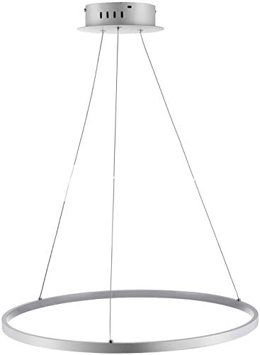 Office kroonluchter 1-Light Circular hanglamp Ambient Light Chrome Metal Acryl LED 110-120V / 220-240V warm wit/wit/dimbaar met afstandsbediening LED Light Source Onderzoek kamer kroonluchter