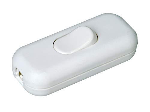 Kopp 191317086 Schnurzwischenschalter, 1-polig, 250 V, 6 A, weiß