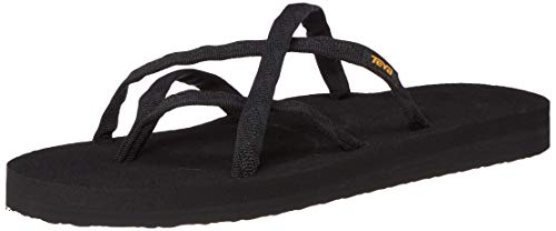 Teva Women's Olowahu Flip-Flop - 10 B(M) US - Mix Black on Black