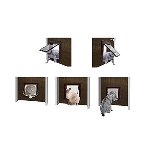 YYDMBH Porta gattaiola Controllo Intelligente a 4 Vie Safe Gate Gate Addominali Animale Piccolo Animale Domestico Gatto per Cani Porta Pet rifornimenti a Flap Porta Pet Gattino Porta