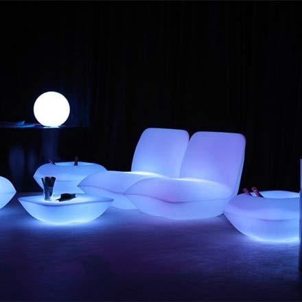 Iluminación de plástico de Estilo Italiano | Almohada sillón Taburete iluminación Muebles sofá con Adaptador y Control Remoto
