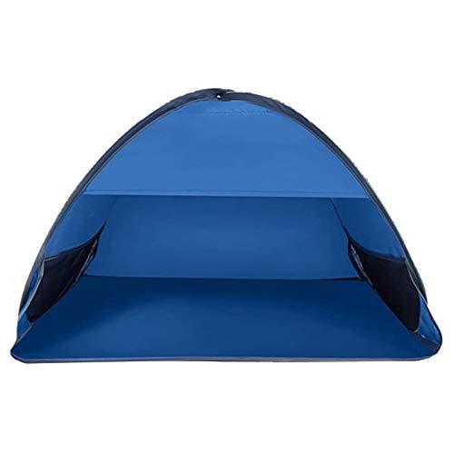 RALC Beach Shelter, tienda de campaña de playa a prueba de rayos UV y transpirable, toldo de montaje automático para camping, pesca y senderismo (80 x 50 x 55 cm), color azul