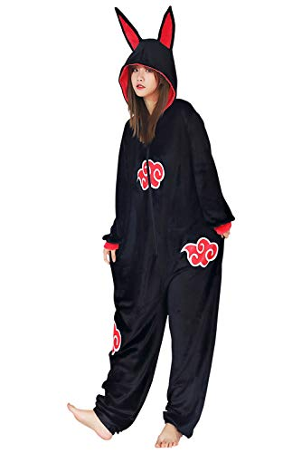Lixinya Anime Akatsuki Cloud Pajama Adult Unisex Onesies Polyester Sleepwear Pijamas Halloween...