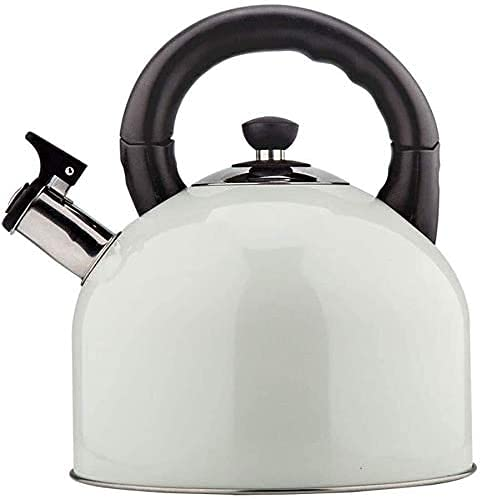 Ronglibai stove top kettle Camping Kettle Stovetop Kettles stainless steel kettle Whistling Kettle Kettle 304 Stainless Steel 4L Fashion Health Induction Cooker Gas General Automatic Whistle(Color:Whi