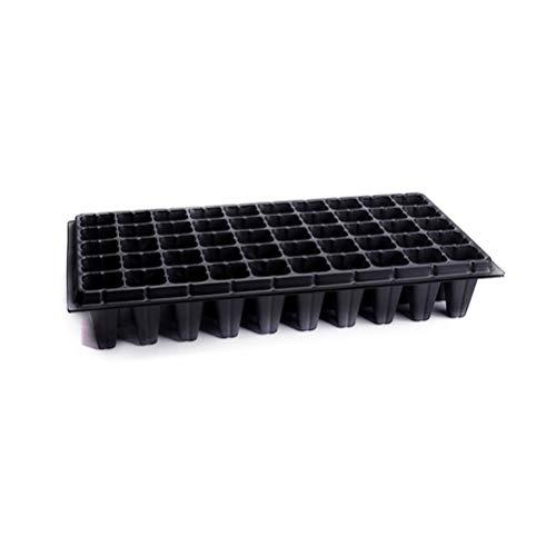 Yarnow 4 Stück Samen Starter Tablett 50 Zellen Garten Keimschale Samenschale für Die Keimlingsvermehrung Keimpfropfen Schwarz