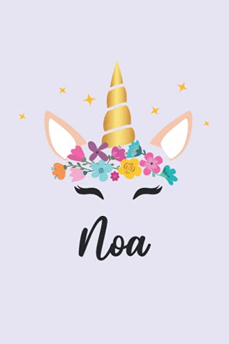 Noa: Personalized Name Notebook | Wide Ruled Paper Notebook Journal | For Teens Kids Students Girls| For Home School College | 6x9 inch 120pages