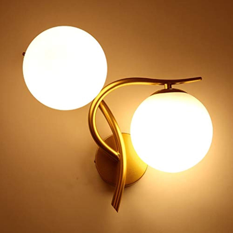 QIULAO Wandleuchte, modernen minimalistischen Stil Schmiedeeisen gebogen Doppelwandleuchte, E27 Lampe, Gang Wohnzimmer Bett Hauptbeleuchtung, Hintergrund Wand kreative Dekoration einfache Wandle