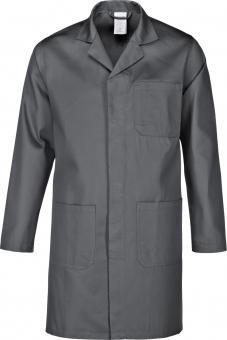 Arbeitsmantel- Berufsmantel-Berufskittel - Kittel grau , reine Baumwolle Gr.XS-5XL (M, Grau)
