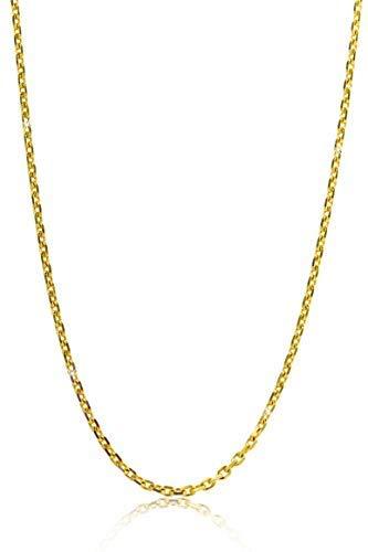 Orovi Damen Ankerkette Halskette 14 Karat (585) GelbGold Anker diamantiert Goldkette 1,2mm breit 45cm lange