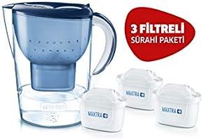 BRITA Marella XL Akıllı Sürahi, Mavi - Musluk suyundaki kireç, klor gibi suyun tadını ve kokusunu bozan maddeleri...