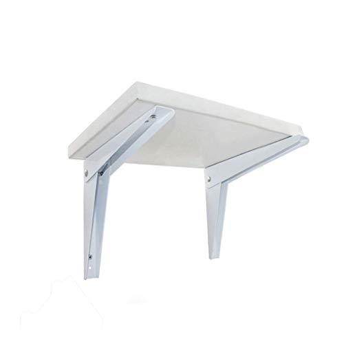 XLYYHZ Juego de 2 soportes plegables triangulares sin tablero montado en la pared, estante colgante estante partición mesa soporte móvil blanco 1HUIYANG-01020 (tamaño : 14 pulgadas)