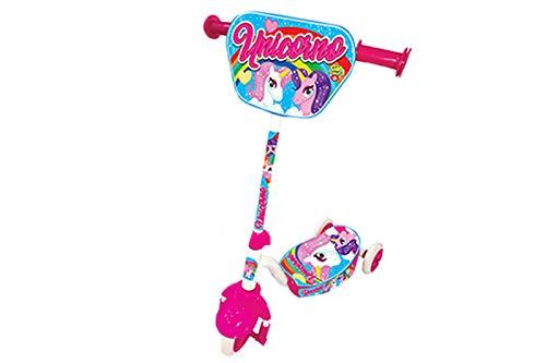 Monopattino unicorno giocattolo bambina 3 ruote 2 anni 60cm rosa GIAQUINTO