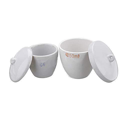 ExcLent 30 / 50Ml Equipo De Laboratorio De Enseñanza Químico Químico De Alta Temperatura Del Crisol Del Crisol De La Porcelana Kit - #2