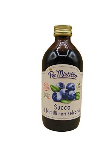 Mirtilli Neri Selvatici, il gusto del Naturale - By il sottobosco Re Mirtillo (Succo di mirtilli neri 200ml)