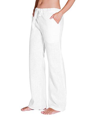 SCHAZAD Leinenhose Essential (L, weiß)