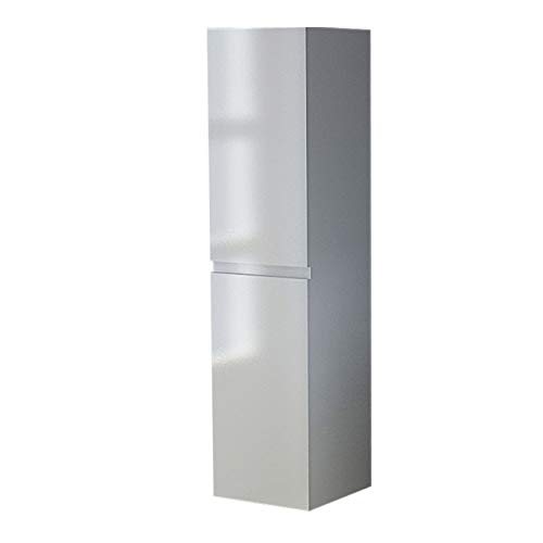 Jet-Line badkamerkast hoge kast badkamer uitvoering model 'trek' in wit hoogglans