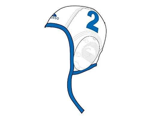 Turbo Wasserball-Kappe mit Ohrschutz Professional (weiß, Nr. 4)