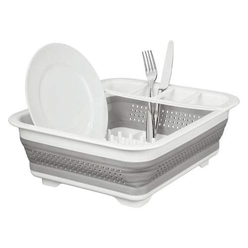 New Collapsible Dish Drainer Large Folding Dish Draining Board Plates Cutlery Rack Sink