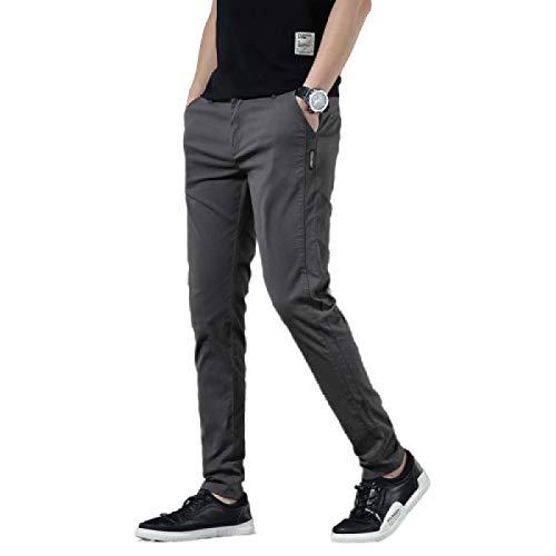 Pantalones Casuales para Hombre Color sólido Slim Fit Recto con Botones y Tapeta con Cremallera Clásico Básico Casual Pantalones Chinos de Todo fósforo 5X-Large
