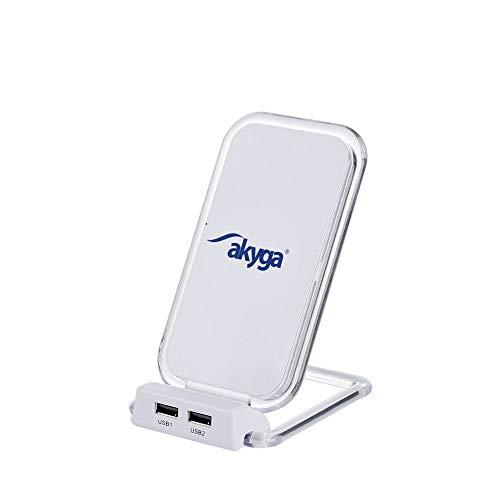 Akyga AK-QI-03 Staand laadstation inductieve oplader draadloze Fast QI lader