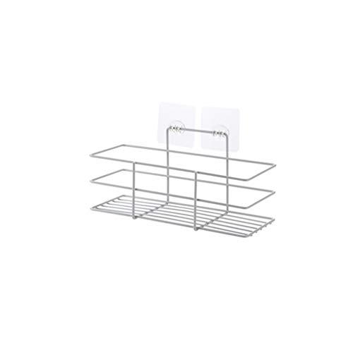 ZJL220 Plancha para el baño o la ducha, con estante adhesivo portaobjetos de cocina, cesta portaobjetos gratis para perforar
