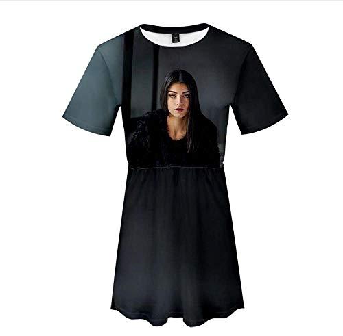 LYJNBB Rock für Frauen, Charli D'Amelio Tik Tok Fan Short Sleeve Pullover, 3D Printed Freizeit XS-XXXXL, Best Friend Kleidung,4,XS