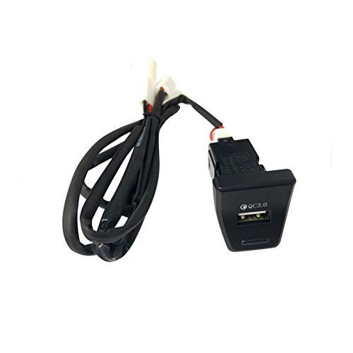 RJJX Cargador de Estilo de Coche Ajuste para Toyota RAV4 2019 2020 Adaptador de Carga rápida Interfaz USB Posición de Control Medio Cargo RÁPIDO (Color Name : For RAV4 2019 20)