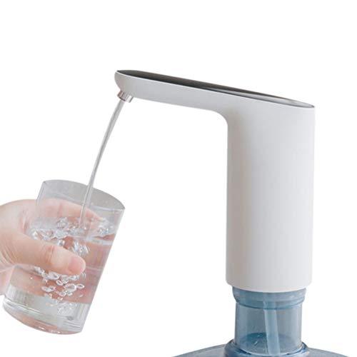 Bomba de botella de agua universal USB de carga inalámbrica Filtro de agua eléctrico portátil Botón táctil dispensador automático de agua potable bomba de jarra