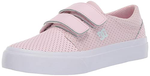 DC Girls' Trase V SE Sneaker, Pink, 4 M M US Big Kid
