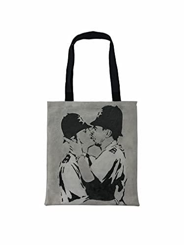 Banksy Kissing Coppers Bolso de mano - Banksy LGBT Art impreso